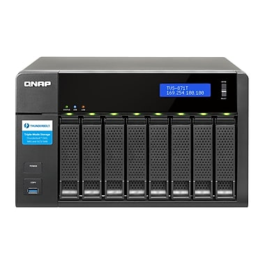 QNAP (TVS-871T-i7-16G-US) 8-Bay High-Performance Thunderbolt™ 2 Turbo vNAS for a DAS/NAS/iSCSI SAN Triple Solution, 16GB RAM