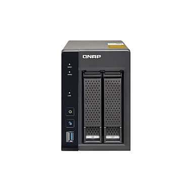 QNAP – Combo NAS QTS-Linux 2 baies, mémoire vive de 4 Go (TS-253A-4G-US)