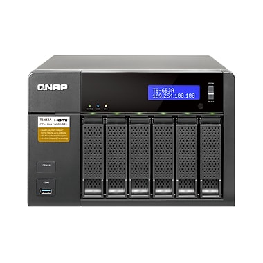 QNAP (TS-653A-8G-US) 6-Bay QTS-Linux Combo NAS, 8GB RAM