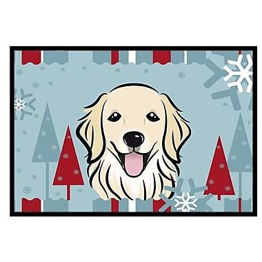 Caroline's Treasures Winter Holiday Golden Retriever Doormat; 1'6'' x 2'3''