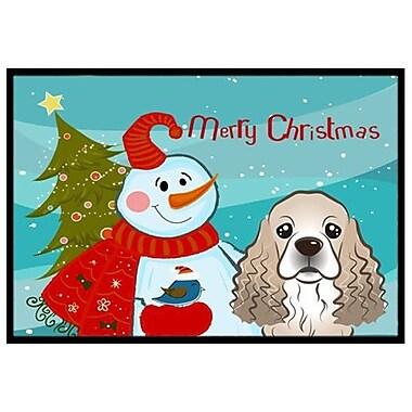 Caroline's Treasures Snowman w/ Cocker Spaniel Doormat; 1'6'' x 2'3''