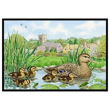 Caroline's Treasures Mallard Duck Doormat; 2' x 3'