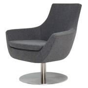 Modern Chairs USA Joy Swivel Lounge Chair; Dark Gray