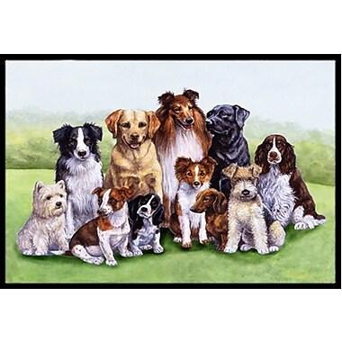 Caroline's Treasures Springtime Dogs Doormat; 1'6'' x 2'3''