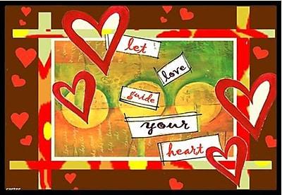 Caroline's Treasures Let Love Guide Your Heart Valentine's Day Doormat; 1'6'' x 2'3'' WYF078278689481