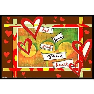 Caroline's Treasures Let Love Guide Your Heart Valentine's Day Doormat; 1'6'' x 2'3''