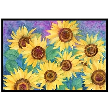 Caroline's Treasures Sunflowers and Purple Doormat; 2' x 3'