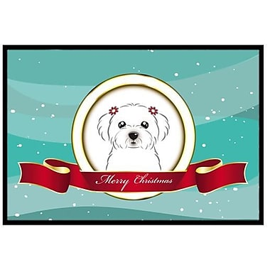 Caroline's Treasures Maltese Merry Christmas Doormat; 1'6'' x 2'3''