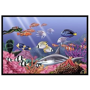 Caroline's Treasures Undersea Fantasy 5 Doormat; 2' x 3'