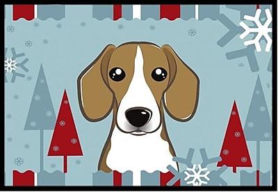 Caroline's Treasures Winter Holiday Beagle Doormat; 1'6'' x 2'3''