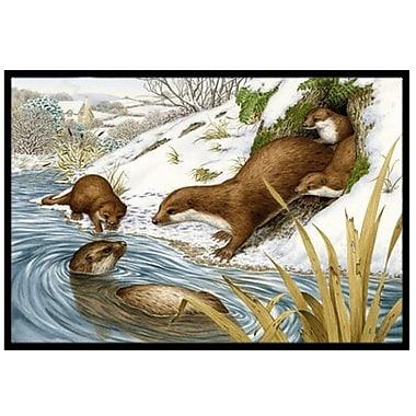 Caroline's Treasures Playtime Otters Doormat; 1'6'' x 2'3''