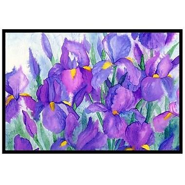 Caroline's Treasures Purple Iris Doormat; 1'6'' x 2'3''