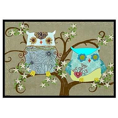 Caroline's Treasures The Friendly Ladies Owl Doormat; 1'6'' x 2'3''