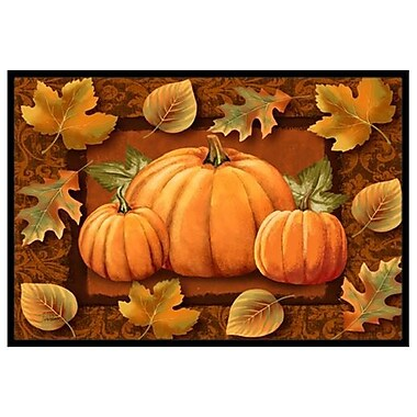Caroline's Treasures Pumpkins and Fall Leaves Doormat; 2' x 3'