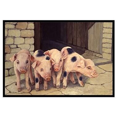 Caroline's Treasures Pigs Piglets Doormat; 1'6'' x 2'3''