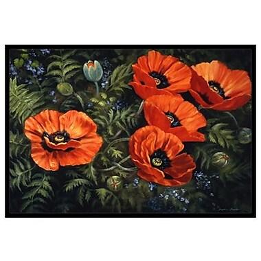 Caroline's Treasures Poppies Doormat; 2' x 3'