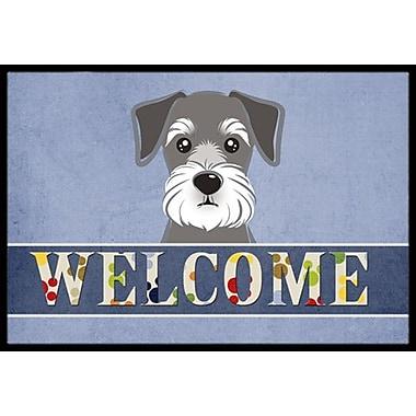 Caroline's Treasures Schnauzer Welcome Doormat; 1'6'' x 2'3''