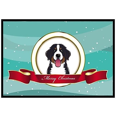 Caroline's Treasures Bernese Mountain Dog Merry Christmas Doormat; 2' x 3'