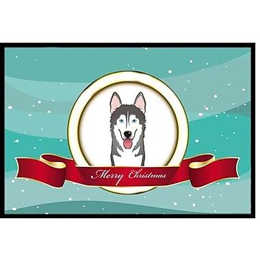 Caroline's Treasures Alaskan Malamute Merry Christmas Doormat; 2' x 3'