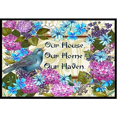 Caroline's Treasures Our House Our Home Our Haven Doormat; 2' x 3'