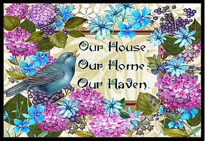 Caroline's Treasures Our House Our Home Our Haven Doormat; 1'6'' x 2'3''