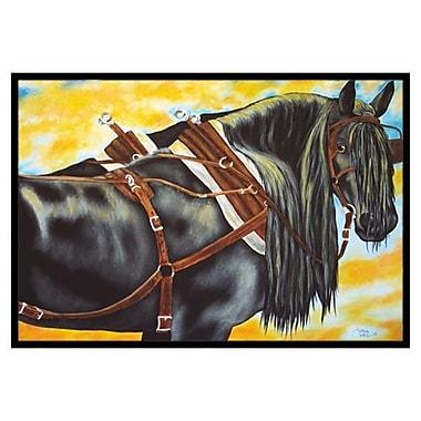 Caroline's Treasures Day's End Horse Doormat; 1'6'' x 2'3''