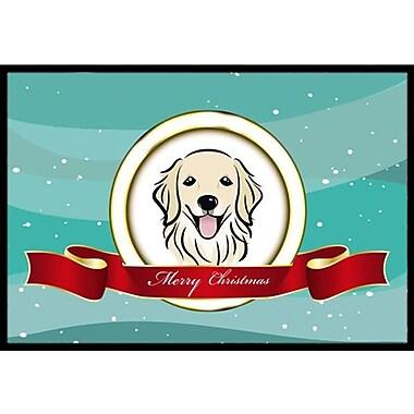 Caroline's Treasures Golden Retriever Merry Christmas Doormat; 2' x 3'