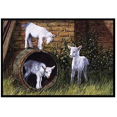 Caroline's Treasures Goats Doormat; 1'6'' x 2'3''