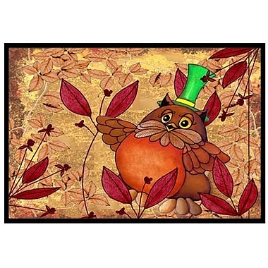 Caroline's Treasures Hootie Fall Owl Doormat; 2' x 3'