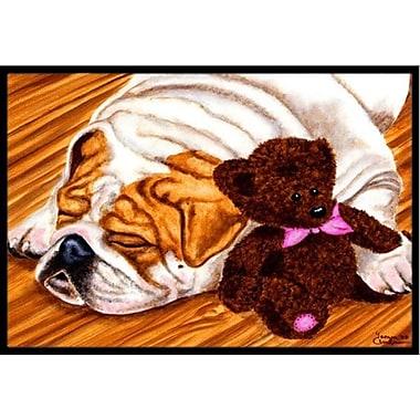 Caroline's Treasures English Bulldog and Teddy Bear Doormat; 2' x 3'