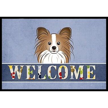 Caroline's Treasures Papillon Welcome Doormat; 1'6'' x 2'3''