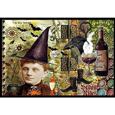 Caroline's Treasures Broom Rides and Spells Halloween Doormat; 1'6'' x 2'3''