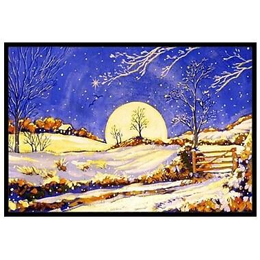 Caroline's Treasures Winter Moonrise Doormat; 1'6'' x 2'3''