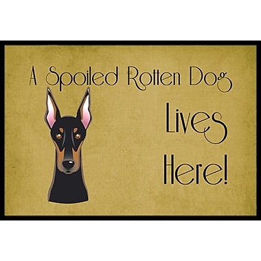 Caroline's Treasures Doberman Spoiled Dog Lives Here Doormat; 2' x 3'