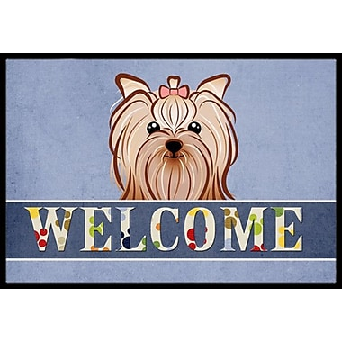 Caroline's Treasures Yorkie Yorkshire Terrier Welcome Doormat; 2' x 3'