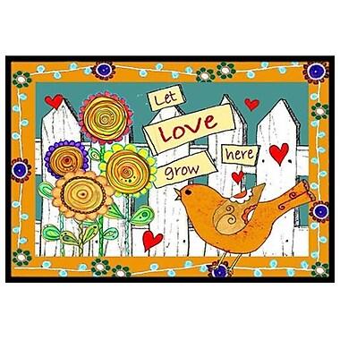 Caroline's Treasures Let Love Grow Here Doormat; 2' x 3'