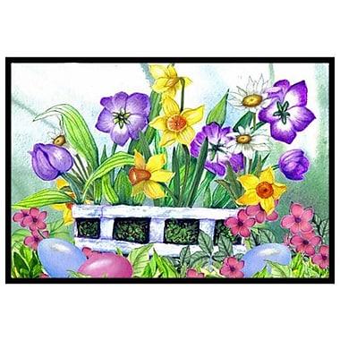 Caroline's Treasures Finding Easter Eggs Doormat; 1'6'' x 2'3''