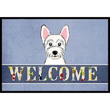 Caroline's Treasures Westie Welcome Doormat; 1'6'' x 2'3''