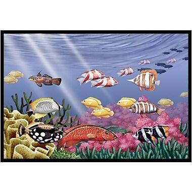 Caroline's Treasures Undersea Fantasy 7 Doormat; 2' x 3'