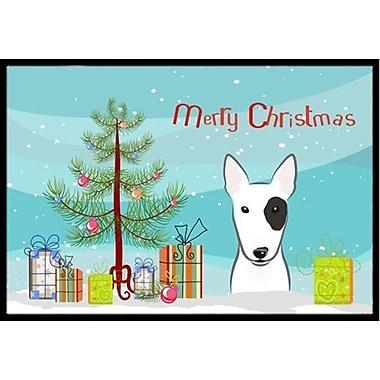Caroline's Treasures Christmas Tree and Bull Terrier Doormat; 2' x 3'
