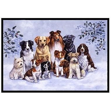 Caroline's Treasures Winter Dogs Doormat; 2' x 3'