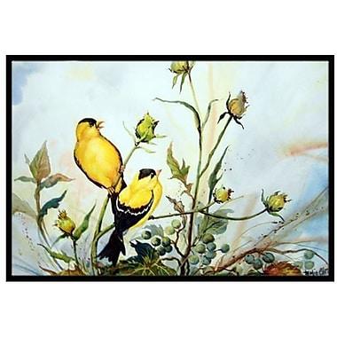 Caroline's Treasures Joyful Morning Birds Doormat; 2' x 3'
