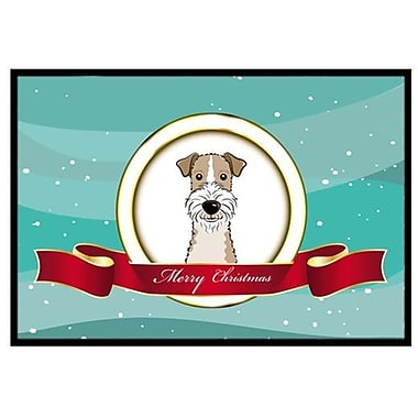 Caroline's Treasures Wire Haired Fox Terrier Merry Christmas Doormat; 2' x 3'