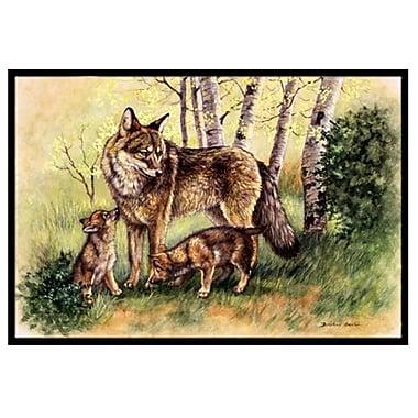 Caroline's Treasures Wolf Wolves Doormat; 2' x 3'