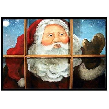 Caroline's Treasures Kindly Visitor Santa Claus Christmas Doormat; 1'6'' x 2'3''