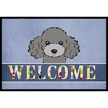 Caroline's Treasures Silver Gray Poodle Welcome Doormat; 2' x 3'