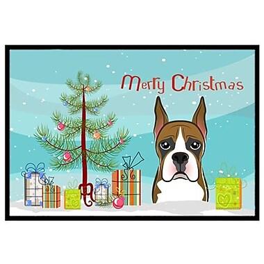 Caroline's Treasures Christmas Tree and Boxer Doormat; 1'6'' x 2'3''