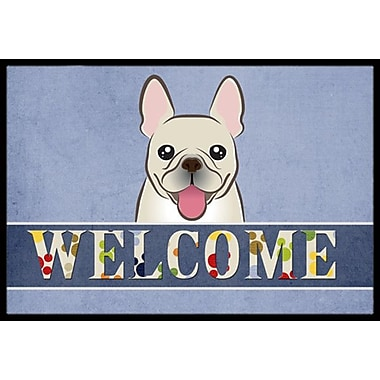 Caroline's Treasures French Bulldog Welcome Doormat; 2' x 3'
