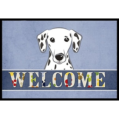 Caroline's Treasures Dalmatian Welcome Doormat; 1'6'' x 2'3''