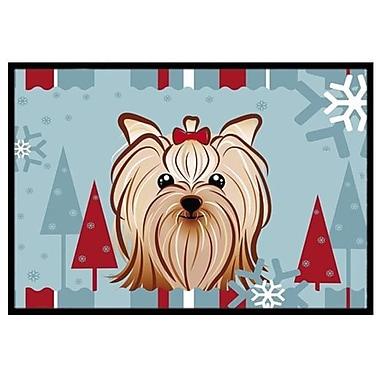 Caroline's Treasures Winter Holiday Yorkie Yorkshire Terrier Doormat; 2' x 3'